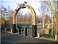 SJ4067 : The entrance arch to Northgate Ponds by John S Turner