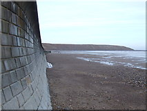 TA1280 : Sea wall and Filey Sands by JThomas