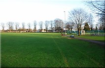 SP3509 : Leys Recreation Ground, Station Lane, Witney, Oxon by P L Chadwick