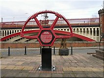 SJ8397 : The Grocers' Warehouse Cogwheel by Gerald England