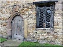 SD6911 : Ancient door and window, Smithills Hall by Philip Platt