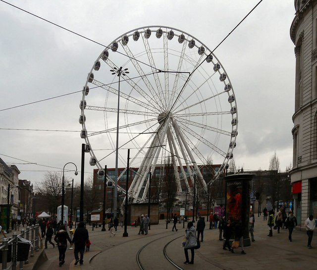 Manchester Wheel in Piccadilly Gardens
