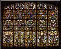 TQ6653 : Detail of East window, St Lawrence church, Mereworth by J.Hannan-Briggs