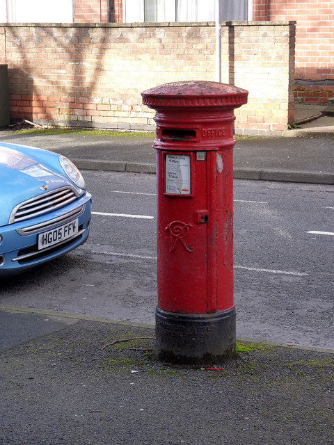 Former Lenton Post Office postbox ref NG7 124