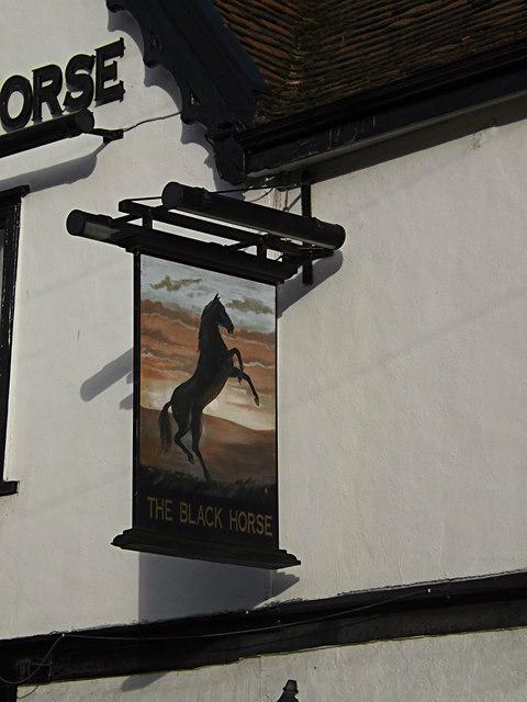 The Black Horse Public House sign