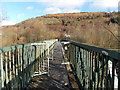 ST0597 : Across a river footbridge in Penrhiwceiber by Jaggery