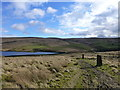 SD9613 : Lonely gateposts on the Rochdale Way by Raymond Knapman