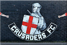J3477 : Crusaders mural, Belfast (2) by Albert Bridge