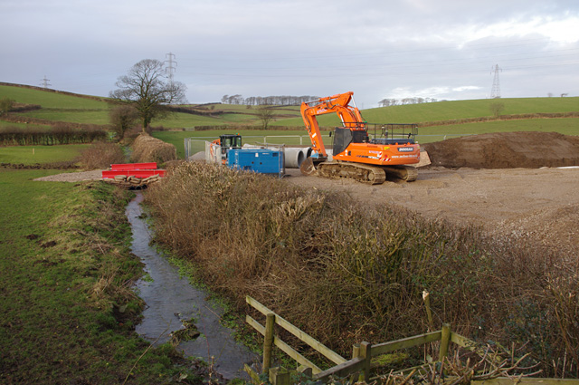 Drainage work near Beaumont Hall