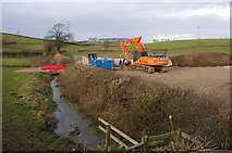 SD4863 : Drainage work near Beaumont Hall by Ian Taylor
