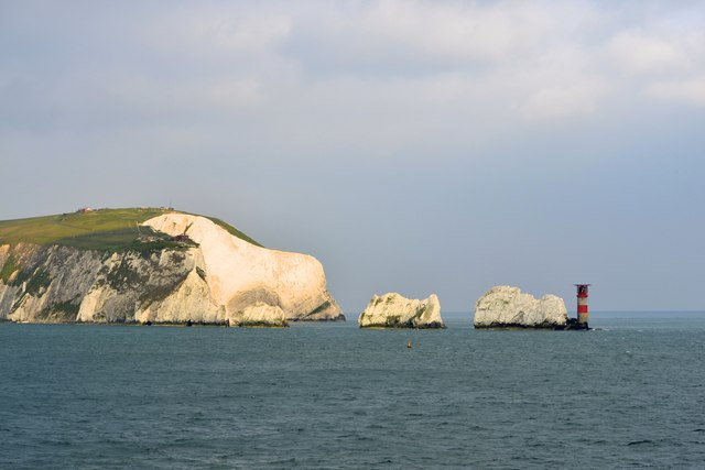 Polar Bear at The Needles, Isle of Wight, viewed from P&O's Adonia