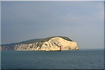 SZ2984 : West High Downs, The Needles and the Needles Lighthouse, Isle of Wight, viewed from P&O's Adonia - 5 by Terry Robinson