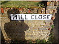 TM0838 : Mill Close sign by Adrian Cable