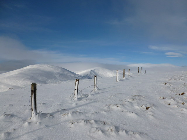 Old fence on Creag an Dubh Shluic