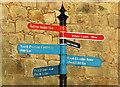 NT9952 : Tourist information sign by William Starkey
