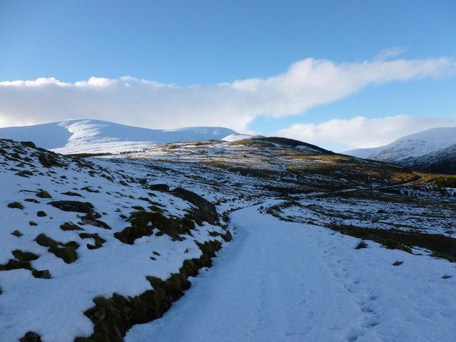 Track into Glen Lochsie ('glen of the dark stream')