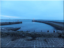 SC2667 : Outer harbour at Castletown 7 February 2014 by Richard Hoare