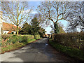 TM0738 : Church Lane, Great Wenham by Adrian Cable