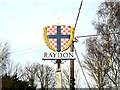 TM0538 : Raydon Village sign by Adrian Cable