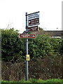 TM0538 : Roadsign on the B1070 The Street by Adrian Cable