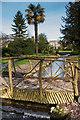 SU8612 : Rustic bridge, West Dean Gardens by Ian Capper