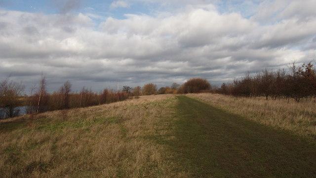 Path alongside lake