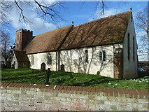 TQ9963 : Luddenham church by Robin Webster