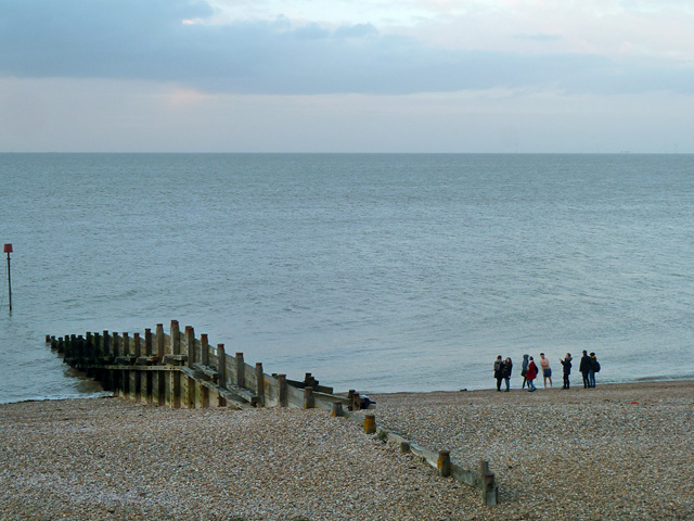 Evening on the beach, Whitstable
