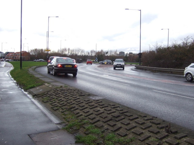 Longlands Road (A1085), approaching roundabout