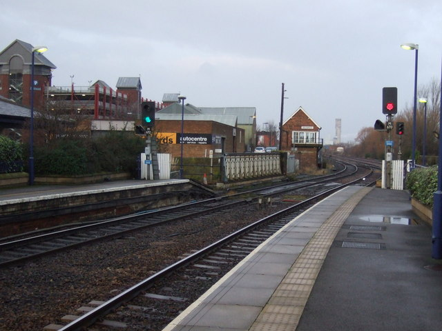 Railway heading west from Middlesbrough Railway Station