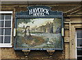 TL0799 : The Haycock Hotel (3) - sign, London Road, Wansford by P L Chadwick