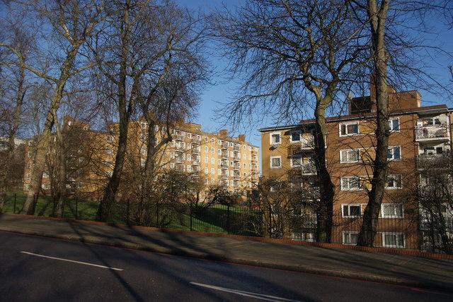 Blocks of flats in Tulse Hill