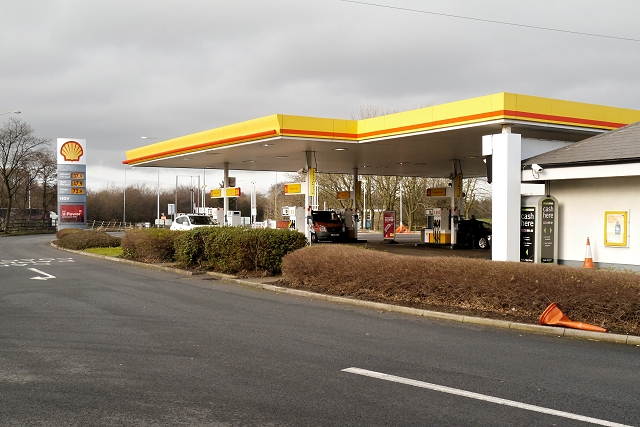 Fuel Forecourt, Charnock Richard Services (Southbound)