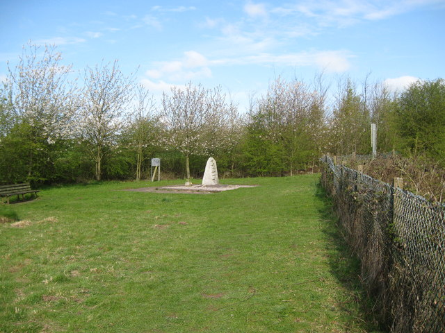 Fauld crater memorial to a disaster-Hanbury, Staffs