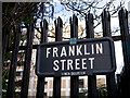 J3373 : Franklin Street sign, Belfast by Rossographer