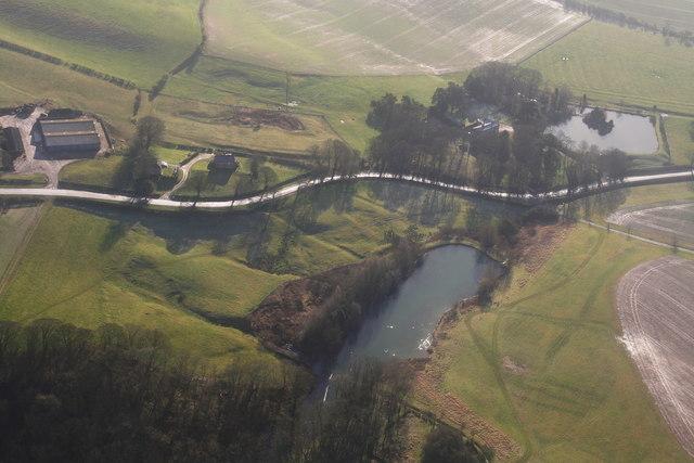 Cawkwell Medieval Village: aerial 2014