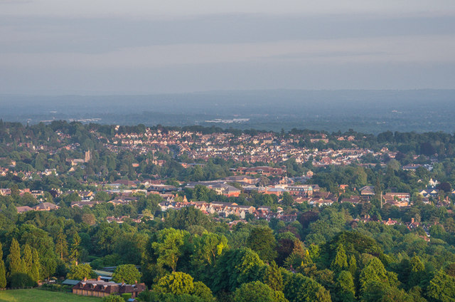 Reigate from Colley Hill