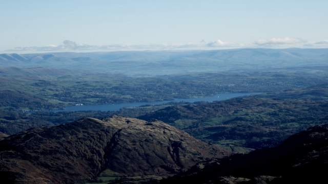 Looking towards Windermere from Bowfell