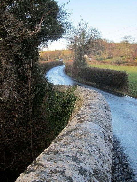 Lane at Bridford Bridge