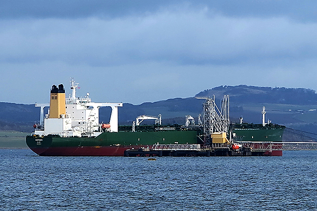 Crude oil tanker Orthis at Hound Point