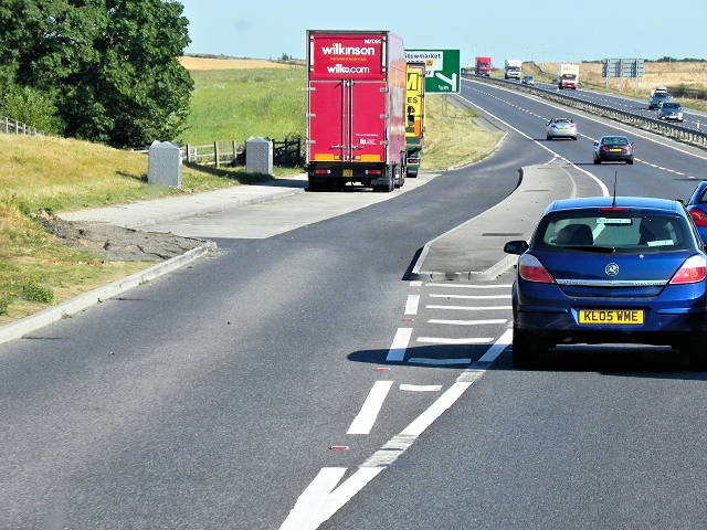Eastbound A14, Layby near Gallows Fields