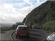NT2772 : Traffic hold-up on Arthur's Seat by M J Richardson