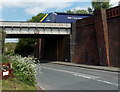 SO7038 : First Great Western train on Bromyard Road bridge, Ledbury by Jaggery