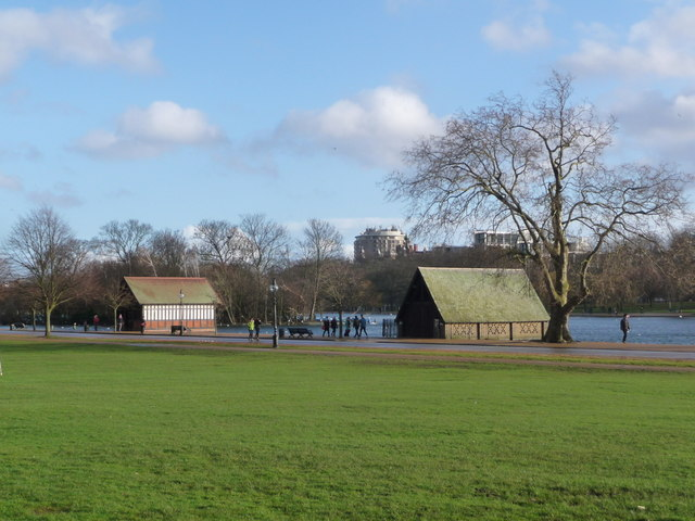 London: two Serpentine boathouses