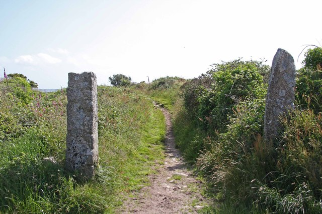 Old Granite Gateposts on Carn Marth