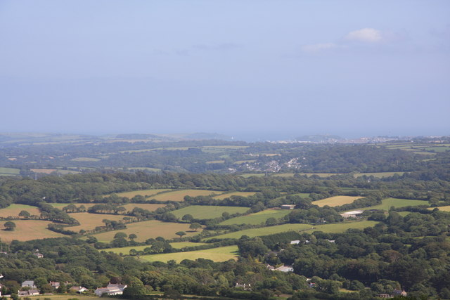 View towards Falmouth from Carn Marth
