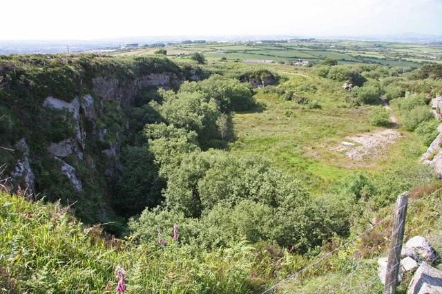 Disused Quarry on Carn Marth