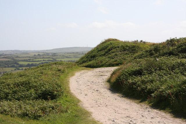 Track near the summit of Carn marth