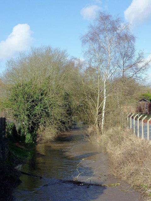 Smestow Brook in Swindon, Staffordshire