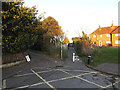 TM4289 : Footpath to Castle Hill & entrance to Garden House by Adrian Cable